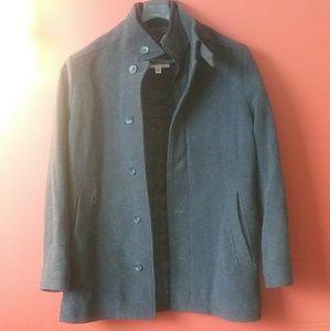 Calvin Klein Mens Zip Coat with 2 Hidden Pockets